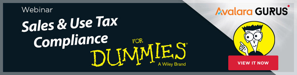 GURUS Webinar Sales & Use Tax Compliance For Dummies