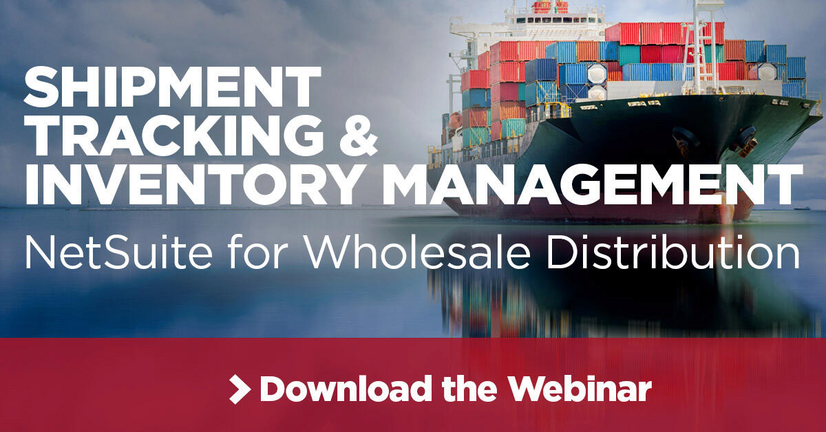 Webinar Shipment Tracking and Inventory Management