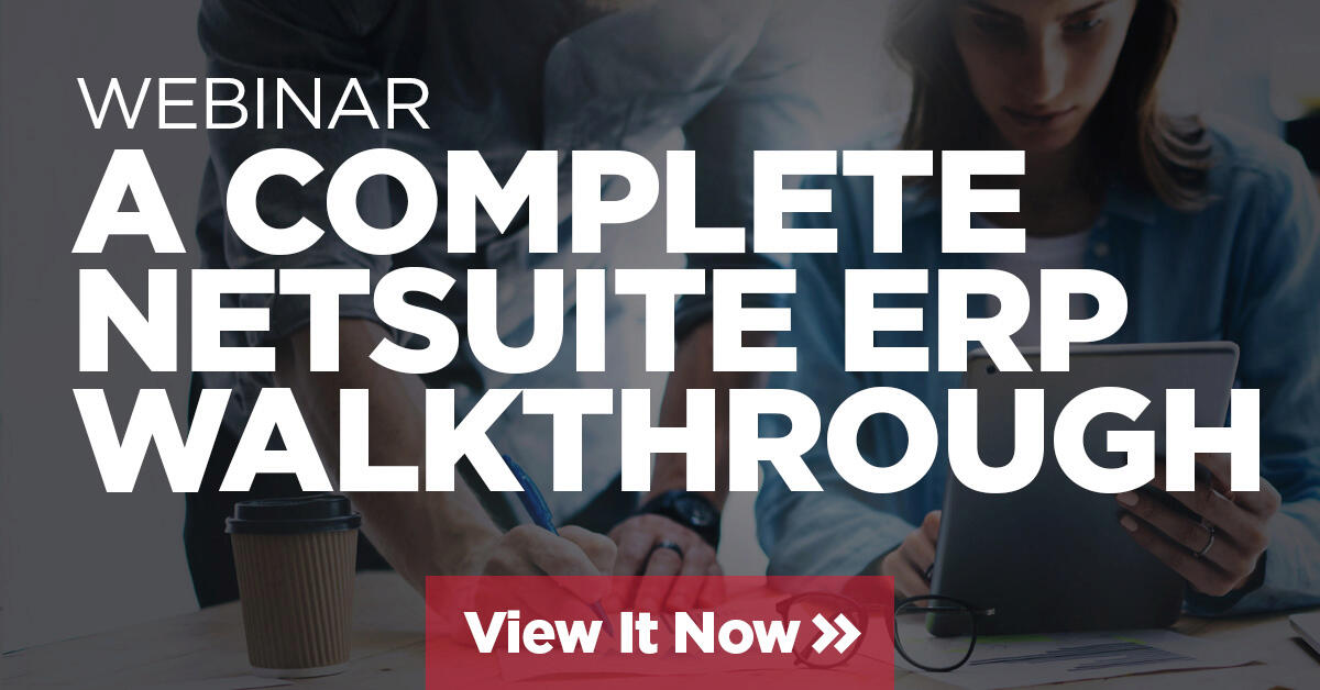 Webinar NetSuite Walkthrough
