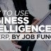 Business Intelligence by Job Function